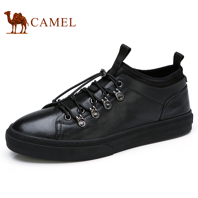 CAMEL Outdoor Men Casual Shoes Non slip Fashion Elastic Band Sock on shoelace One button Lacing