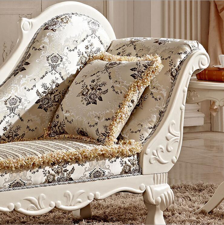 Купить с кэшбэком Hot Sale Sofa French Design fabric Couches living room furniture Sofa  chaise lounge pfy10034