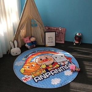 Image 2 - חדש 1.5m/59 Inch ילדים עגול שטיח תינוק לשחק מחצלת צעצועי ארגונית שרוך אחסון תיק קריקטורה בעלי החיים ילדים רצפת משחק מחצלת