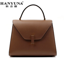 HANYUNA BRAND New Fashion Genuine Leather Women Hobos Handbags Revolving Lock Ladies Single Shoulder Bags Female