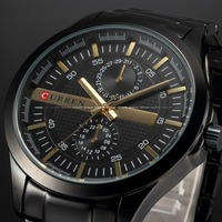 HOT CURREN Men Full Steel Business Watch Men Luxury Brand Sport Watches Analog Display Men Quartz Watch Wristwatch relogio