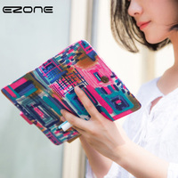 EZONE Canvas Fabric Cover Notebook Colorful Beautiful Schedule Journal Book Painting 2018 Creative Girls Notepad Students