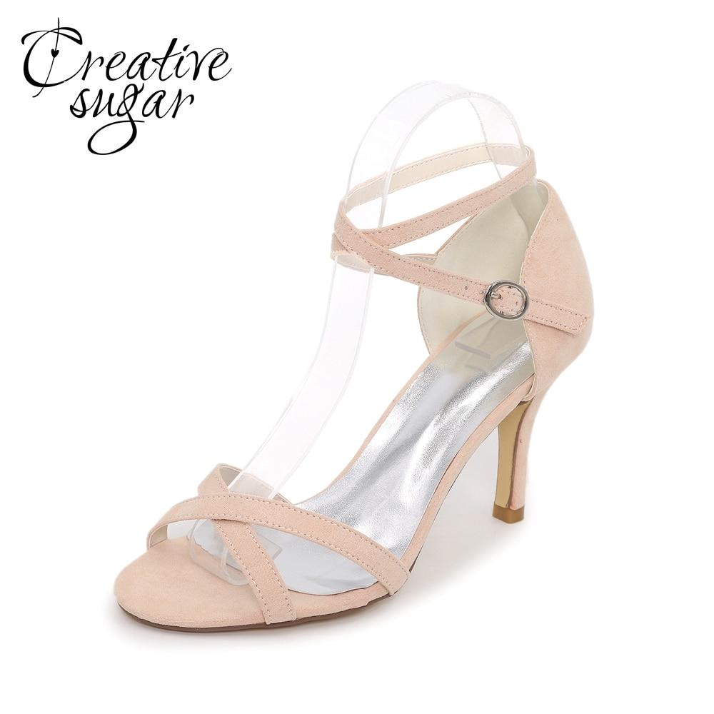 Creativesugar Sexy lady high heel sandals cover heel party fashion show summer dress shoes crossed strap green sky blue black creativesugar fashion high heel pointed