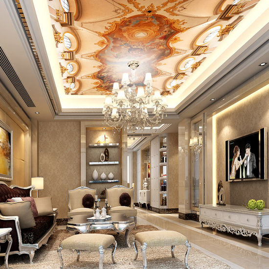 Us 14 8 Sistine Chapel European Style Murals 3d Wall Ceiling Mural Wallpaper For Living Room High Hall 3d Wall Ceiling Photo Murals In Wallpapers