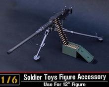 лучшая цена 1/6 Solider Figure Scene Accessories M2 Browning Heavy Machine Gun Model ZY8031 Black/Desert Weapon Toy for 12'' Action Figure