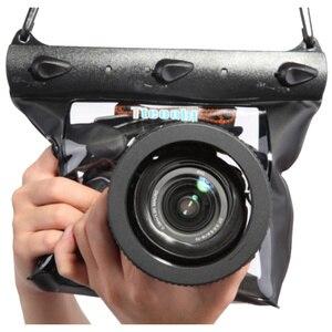 Image 1 - 20m 65ft מצלמה עמיד למים יבש תיק מתחת למים צלילה שיכון מקרה פאוץ שחייה תיק עבור Canon Nikon Sony Pentax DSLR GQ 518L