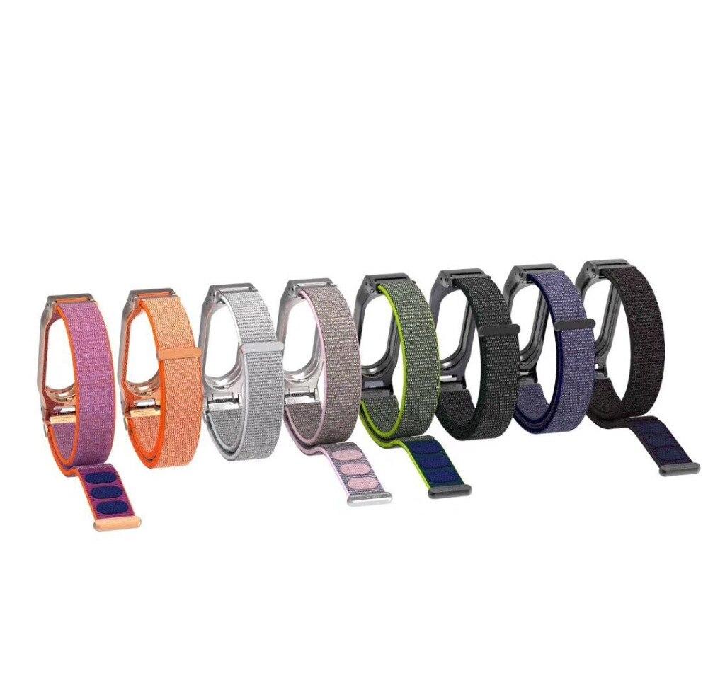 Mi band 2 Nylon Loop Strap For Xiaomi Mi Band 2 Wrist Band Strap For Miband Mi Band 2 Bracelet sport loop neopine hs 3gery nylon wrist band strap for digital cameras gopro hero black grey 27cm