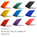 Free Shipping 15 colors Matte Hard Case Cover For Air 11 13 / Pro 13 15 +Retina  / White 13 inch Laptop Bag