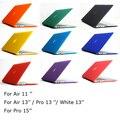 O Envio gratuito de 15 cores Matte Caso Capa Dura Para O Ar 11 13/Pro 13 15 + Retina/Branco 13 polegada Laptop saco