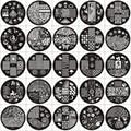 Ap Series Round Plates Nail Stencil Nail Art Image Plate Template Nail Disk Stamping Plates