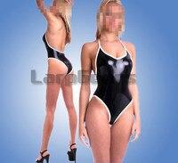 Handmade sexy girl latex swimwear suits rubber jumpsuit custom made