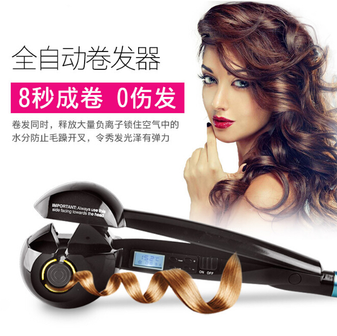 LCD Electric Curly Hair Styling Automatic Curling Iron Hair Styling Tools Thermostatic Wavy Pear Flower Tourmaline ceramic