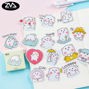 45pcs/pack Little cute paper stickers Diary decoration kawaii DIY scrapbooking label seal Hand account sticker stationery 45pcs pack magic rabbit alice sticker mini paper diary label sealing scrapbooking decoration diy album stickers stationery