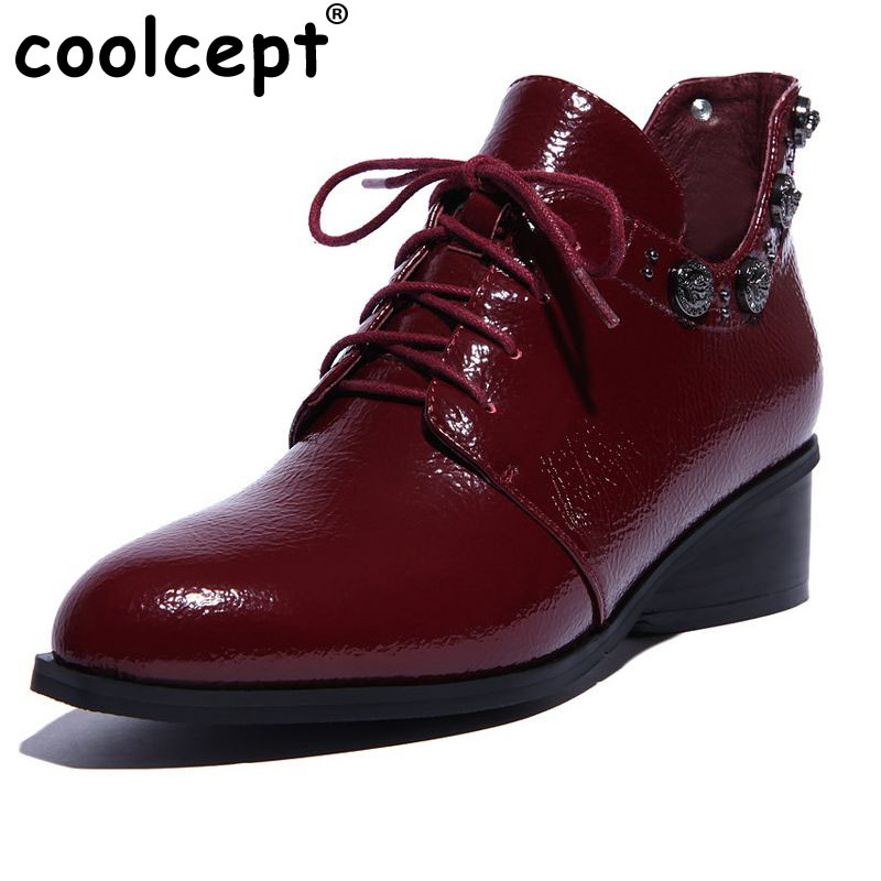 ФОТО size 33-43 women real natrual genuine leather martin rivets ankle boots half short botas winter boot footwear heels shoes R7309