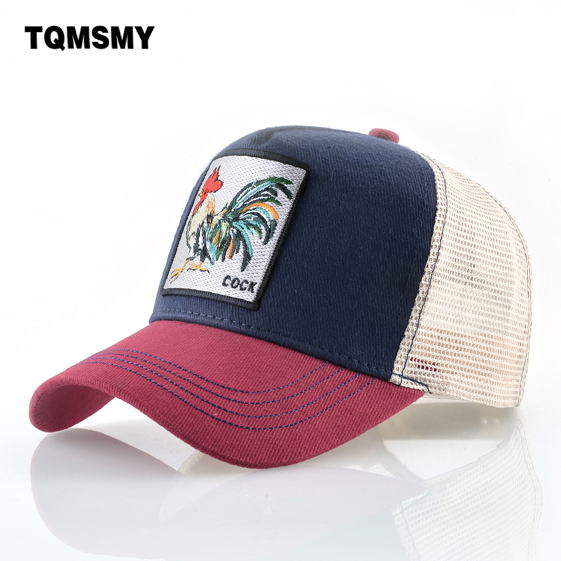 Unisex Cotton Snapback   caps   for men Embroidery cock   Baseball     Cap   Women's Breathable Mesh Trucker Bone rooster Hip Hop hats