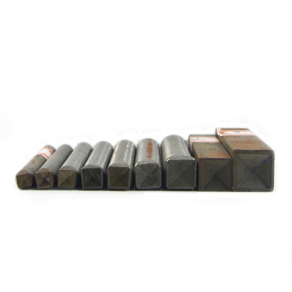 1 Set (Mix 9 Size) Square Press Rivet Studs Tool Pyramid Leather