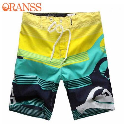2018 New Men's Board Shorts Surf Trunks Swimwear Twin Micro Fiber Striped Boardshorts Bathing Suit Summer Beachwear Plus Szie