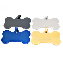 Dog bone dog brand stainless steel black blank glossy military medal pendant necklace