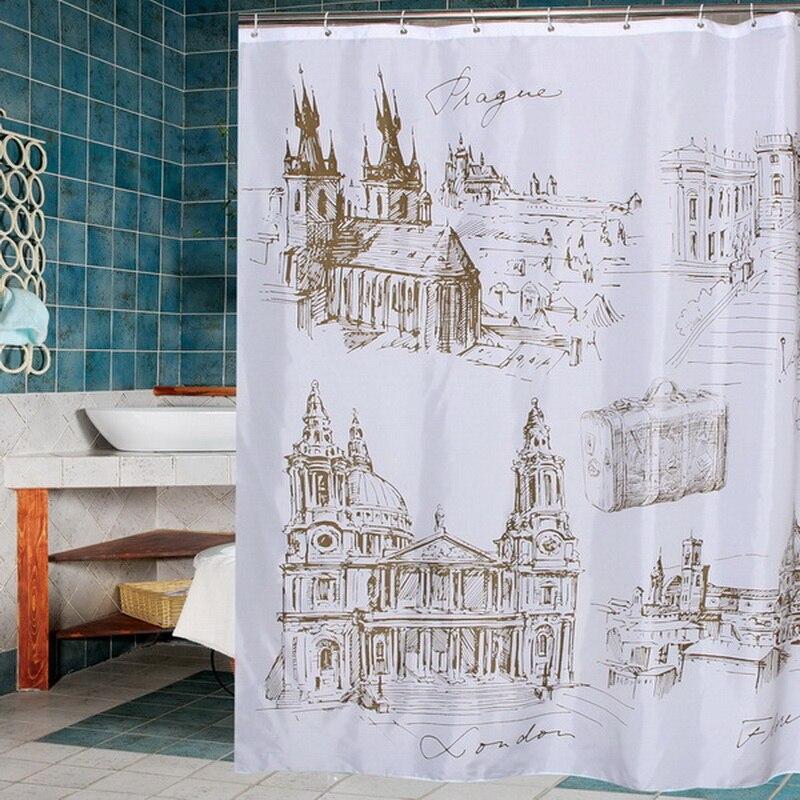 Happy Tree Fabric Polyester Wijnmakerij Waterdicht Douchegordijn - Huishouden