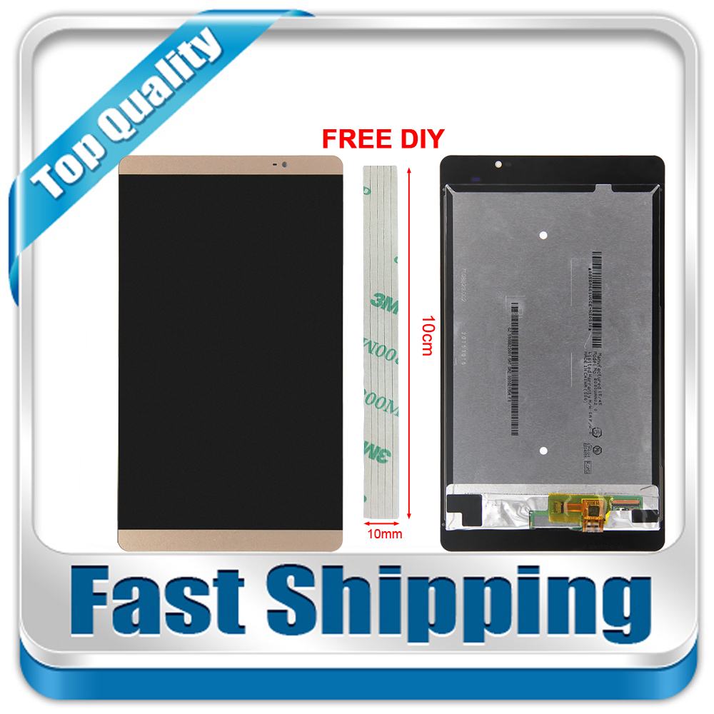 где купить New For Huawei MediaPad M2 M2-801L M2-802L M2-803L Replacement LCD Display Touch Screen Assembly White Gold Free Shipping по лучшей цене