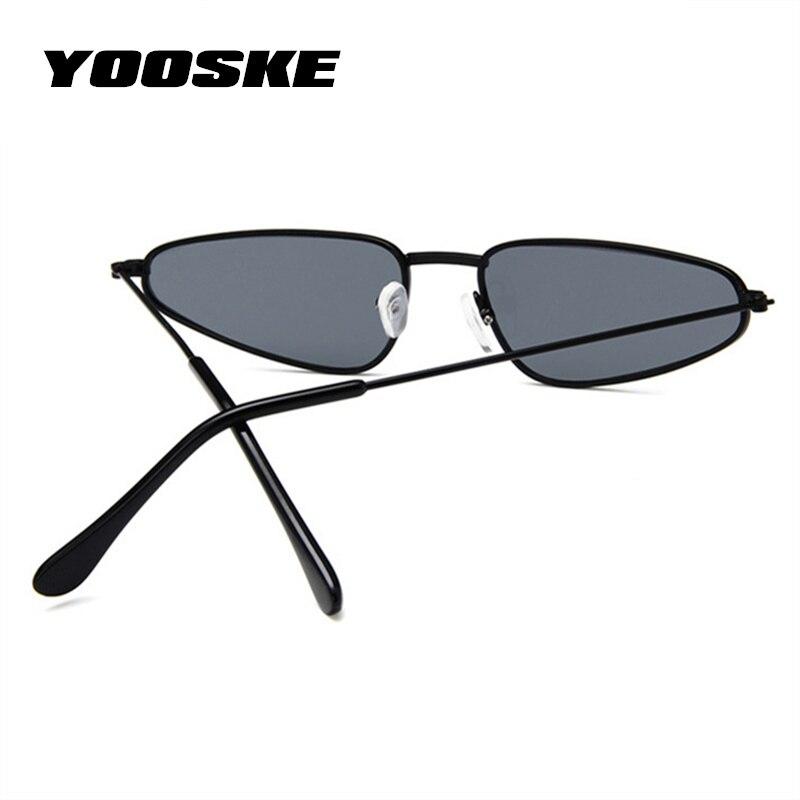 8f64a6c0fec1 YOOSKE Small Frame Cat Eye Sunglasses Women Trendy Catwalk Sun glasses  Famle Drop Shaped Ocean Retro Sunglasses for Women UV400-in Sunglasses from  Apparel ...