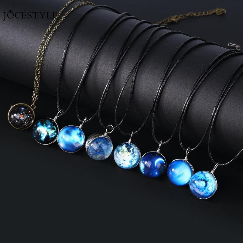 Unique Luminous Universe Glow Pendant Necklace Luminous in the Dark Ball Pendant Necklace Gift Unisex (China)