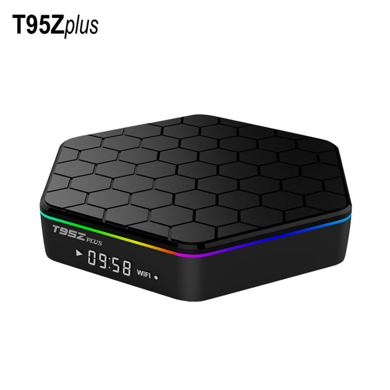 T95Z Plus MAX 3GB RAM 32GB ROM Amlogic S912 Octa Core Android 7.1 TV Box 4K H.265 2.4G+5G Dual Band WiFi Smart Android TV BOX