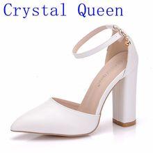 710f3a7812 Rainha de cristal Das Sandálias Das Mulheres sapatos de Salto Alto  Sandálias de Verão da Plataforma Do Salto Quadrado Sapatos Se.