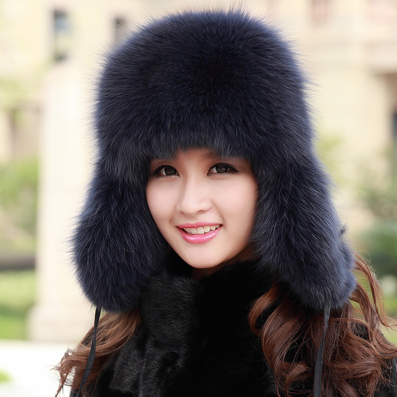 Trapper Hat Girl In Autumn Winter Russian For Women For Boys Crochet  Earflap Children With Star Womens Real Fur Bomber Hats 012d160dddb
