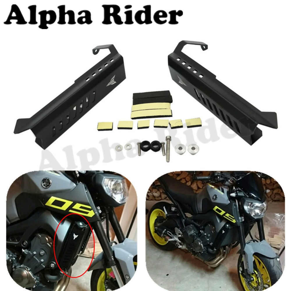 Motorcycle Radiator Grille Side Mount Guard Cover Frame Fairing Protector for Yamaha MT09 MT-09 FZ09 FZ-09 2014-2016 motorcycle cnc radiator grille radiator side guard cover protector for yamaha fz09 mt09 mt 09 2014 2015 2016