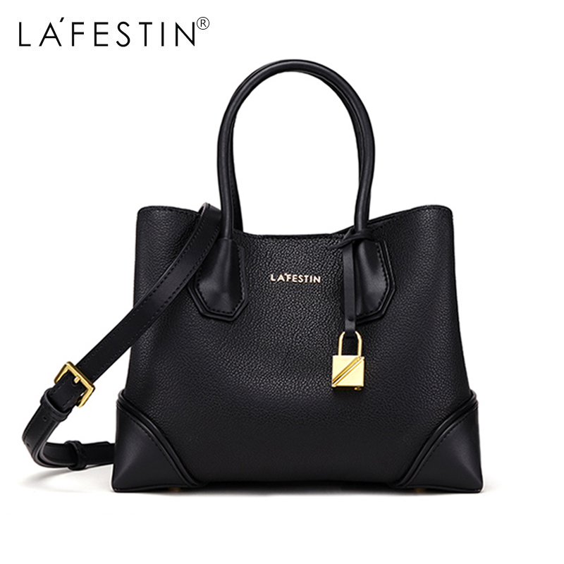 LAFESTIN Women Handbag Bag Genuine Leather Shoulder Bag High Quality Crossbody Bag Famous Brand Bolsa Feminina