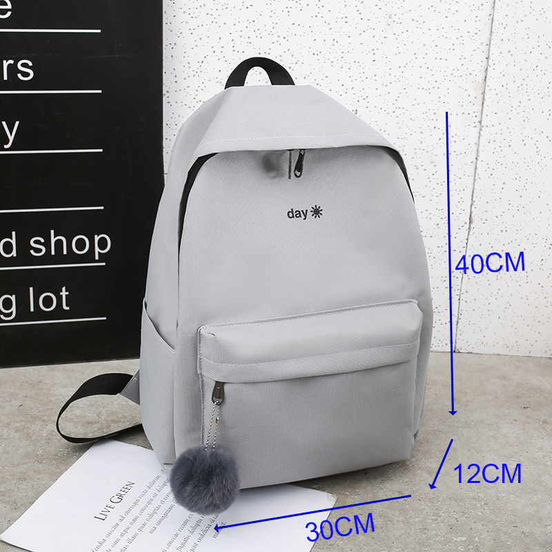 Image 5 - Trend Women Backpack Korea Style Female College Students Back Pack Schoolbag For teenager Girls Letter Printing Girls Knapsack-in Backpacks from Luggage & Bags