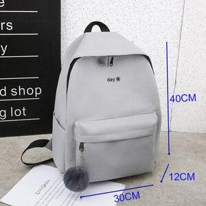Image 5 - Trend kobiet plecak Korea styl kobiet studentów plecak tornister dla nastolatków dziewcząt nadruk w litery dziewczyny plecak