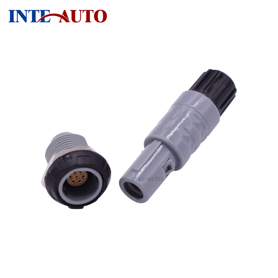 LEMOs ODUs medical plastic connector, push pull self-latching plug receptacle,PAG PKG,2,3,4,5,6,7,8,10,14 pins,fast shipping replace lemos m12 electrical push pull round connector m12 size brass body 8 solder contacts fgg 1b 308 phg 1b 308