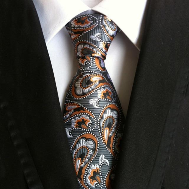 Mantieqingway Men's Ties for Suits Paisley Neck Ties Polyester Plaid Necktie Floral Gravata for Men Wedding Dots Ties for Men