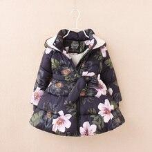 Девушки зимнее пальто детские Ветровки Зимние Куртки для девочек Одежда 6 7 8 9 Лет
