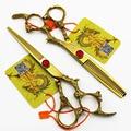 6 дюймов KASHO Профессиональный Парикмахерские Ножницы набор Для Резки + Истончение Парикмахерская ножницы Высокое Качество Золотой Дракон модели