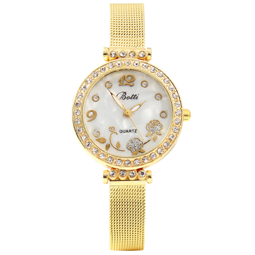 Relogio Feminino Ybotti Brand Women Gold Small Dial Multi-style Casual Quartz Watch Women Metal Mesh Stainless Steel Watches new ybotti famous brand gold crystal butterfly casual quartz watch women stainless steel watches relogio feminino clock hot sale