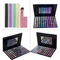 88 Colors Shimmer Matte High Gloss Blusher Eyeshadow Cosmetic Palette + 5pcs Eyeshadow Eyebrow Powder Makeup Brushes Set Kits