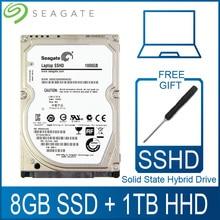 """Seagate 1 TB 2,5 """"de estado sólido accionamiento híbrido SSHD para disco duro de 8 GB SSD 1000 GB Disco Duro HDD HD SATA III 6 Gb/s 5400 RPM 64 M Cache"""