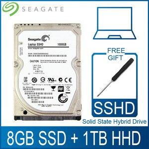 """Image 1 - Seagate 1 TB 2,5 """"de estado sólido accionamiento híbrido SSHD para disco duro de 8 GB SSD 1000 GB Disco Duro HDD HD SATA III 6 Gb/s 5400 RPM 64 M Cache"""