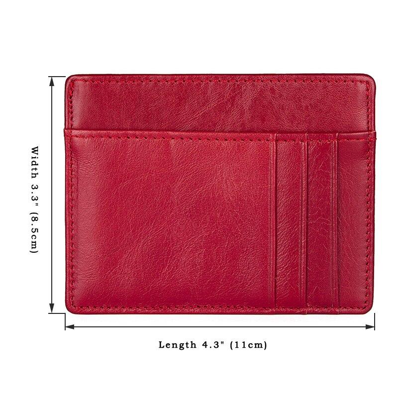 Women Slim Credit Card Wallet Fashion Genuine Leather Rfid Driver License Card Holder Organizer Small Thin Mini Purse