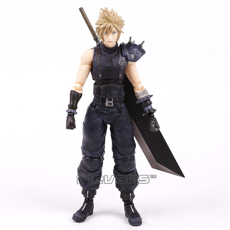 Play Arts KAI Final Fantasy VII NO.1 Cloud Strife PVC Action Figure Collectible Model Toy 26cm high quality final fantasy vii cloud strife playarts kai final fantasy 7 pa kai figure collectible model toy with box
