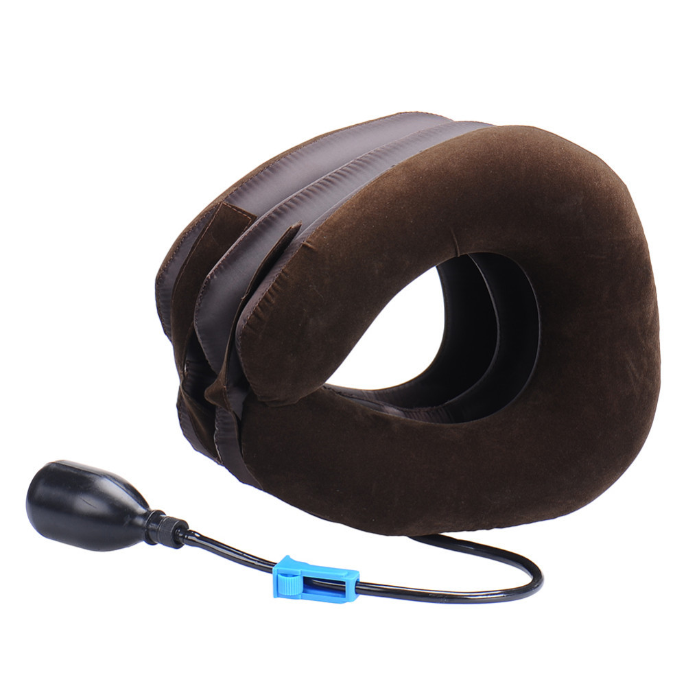 Neck cervical traction device - inflatable collar Head Back Shoulder - Neck Pain Headache health care massage device 9