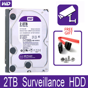 "WD Purple 2TB Surveillance Internal Hard Drive Disk 3.5"" 64M Cache SATA III 6Gb/s 2T 2000GB HDD HD Harddisk for CCTV DVR NVR(China)"