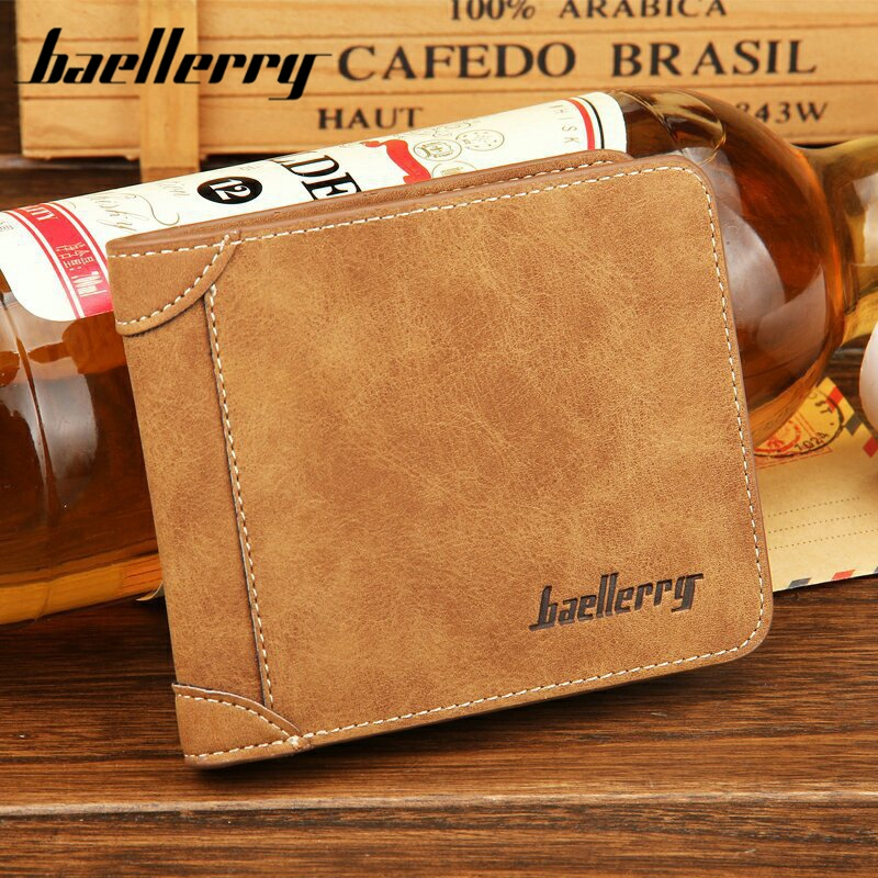 Baellerry 2017 Hot Sale Men's Wallets Blue Coffee Card Holder Credit Card Leather Wallet Synthetic Pu High Quality Photo Holder lorways 016 stylish check pattern long style pu leather men s wallet blue coffee