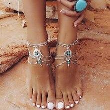 Vintage Silver Ankle Bracelet Foot Jewelry A