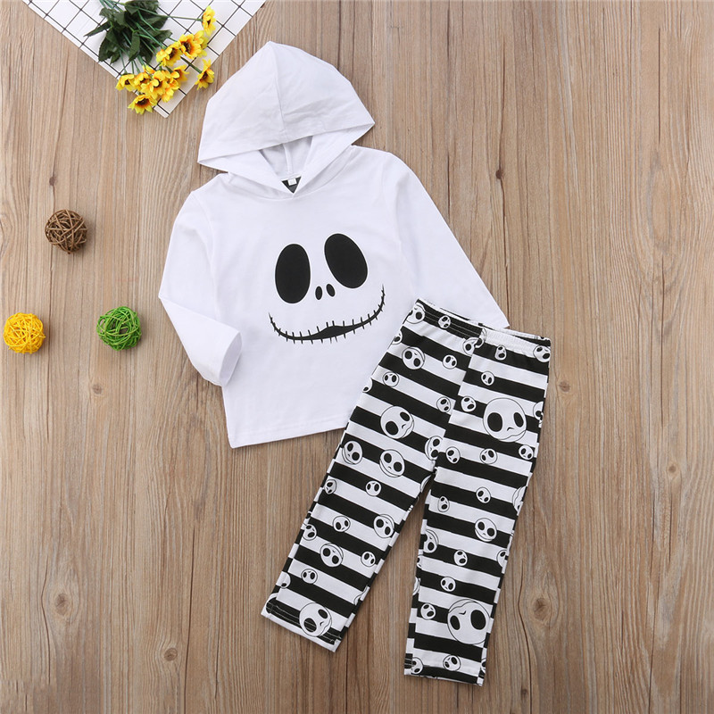 763e39597 Toddler Kids Baby Girls Hoodies Set Long Sleeve Halloween Tops Stripe  Leggings Pants 2pcs Outfits Clothes-in Clothing Sets from Mother   Kids on  ...
