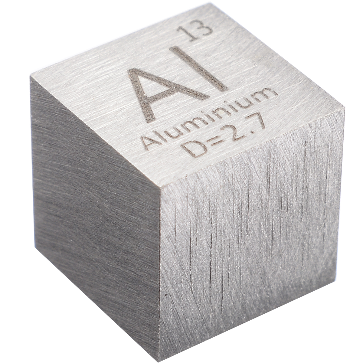 1Pcs 99.99% High Purity Element Periodic Table Cube Aluminum 10mm Cube Carved Element Periodic Table