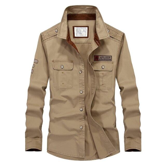 89c156a89 Casual shirt man camisas para hombre US army uniform long sleeve mens  shirts military style chemise